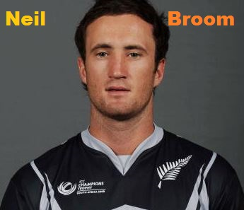 Neil Broom Cricketer, Batting career, batting and bowling average