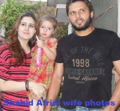 Shahid Afridi wife photos