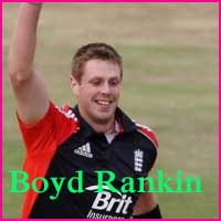 cricketer Boyd Rankin photos