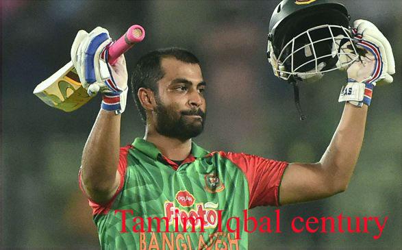 Tamim Iqbal batting