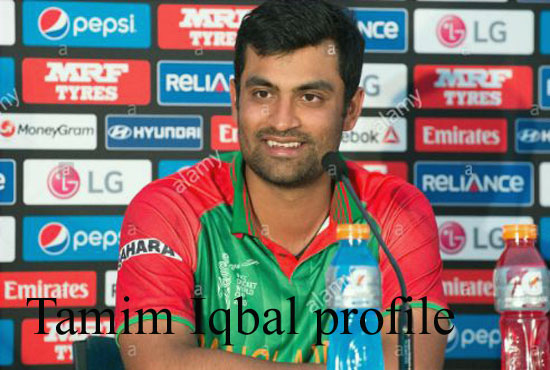 Tamim Iqbal Cricketer, Batting, wife, family, age, height and so