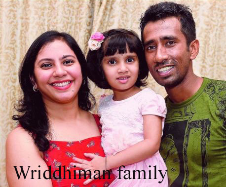 Wriddhiman Saha wife and family