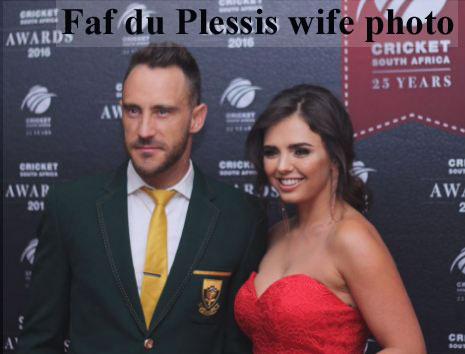 Faf du Plessis wife