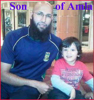 Hashim Amla family son