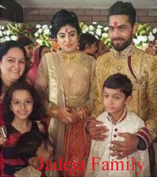 Ravindra Jadeja family