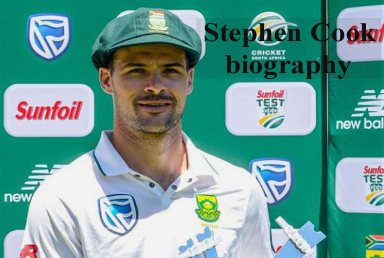 Stephen Cook Cricketer, batting, biography, wife, family, age, height and more