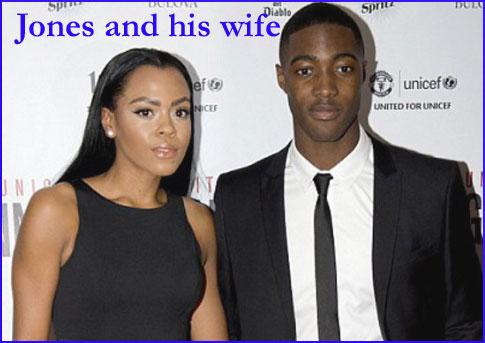 Jones with his wife