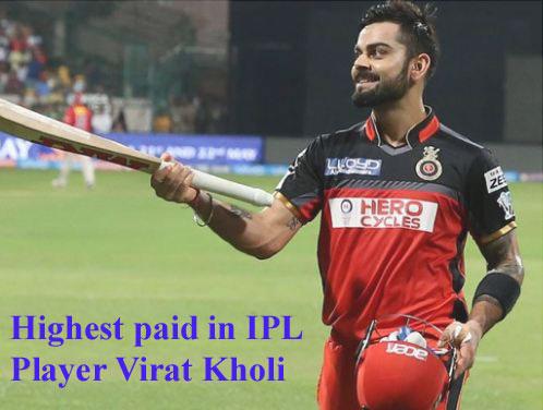 IPL player salary 2018