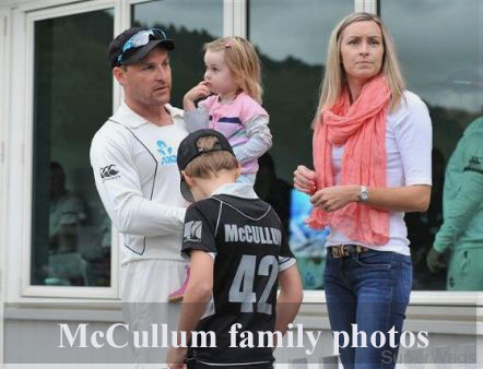 Brendon McCullum family