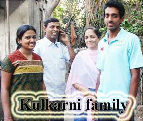 Dhawal Kulkarni family