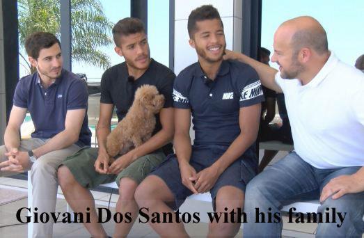 Giovani dos Santos family