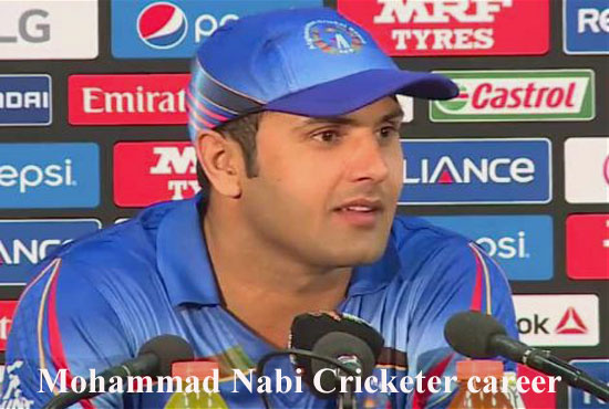 Mohammad Nabi Cricketer, Batting, IPL, wife, family, age, height and so