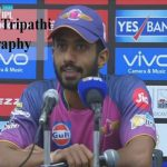 Rahul Tripathi Cricketer, IPL, wife, family, age, height and more