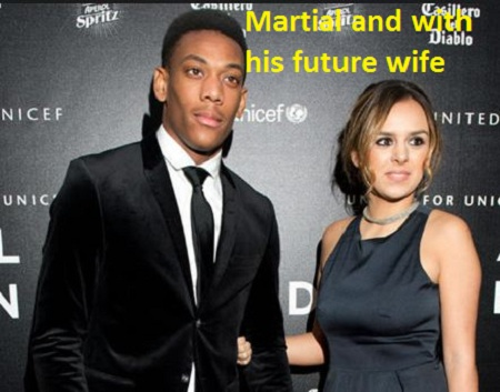 Anthony Martial with his wife of future