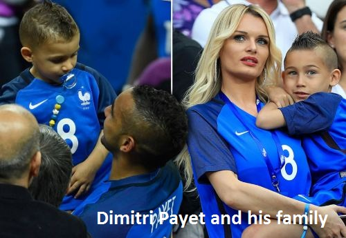 Dimitri Payet with his family