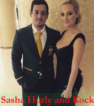 Sasha Hurly with her husband