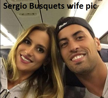 Sergio Busquets with his wife