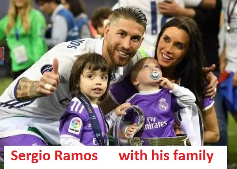 Sergio Ramos with his family