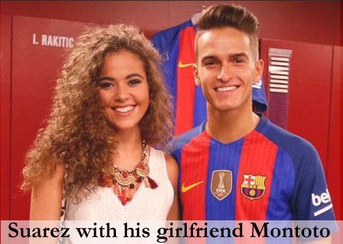 Suarez girlfriend Sandra