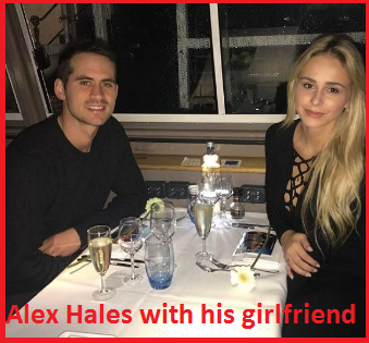 Alex Hales with his girlfriend