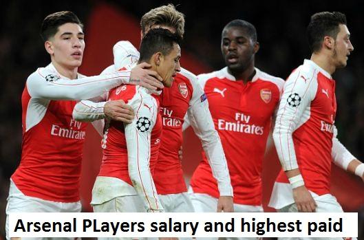Arsenal players salary