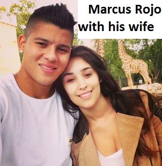 Marcus Rojo wife