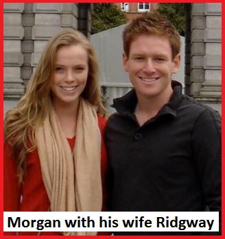 Eoin Morgan wife Ridgway