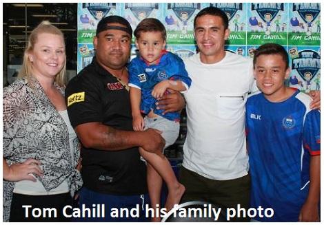 Tom Cahill family