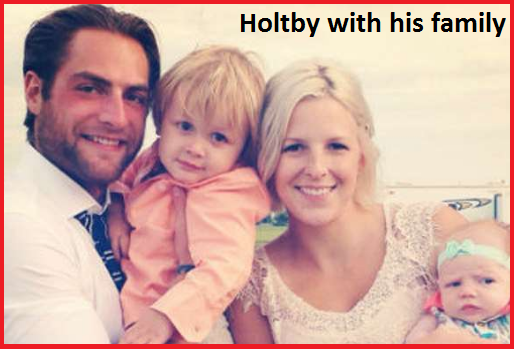Brenden Holtby with his family