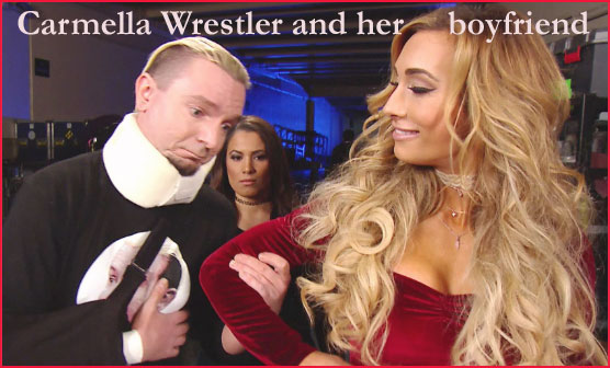 Carmella Wrestler with her boyfriend