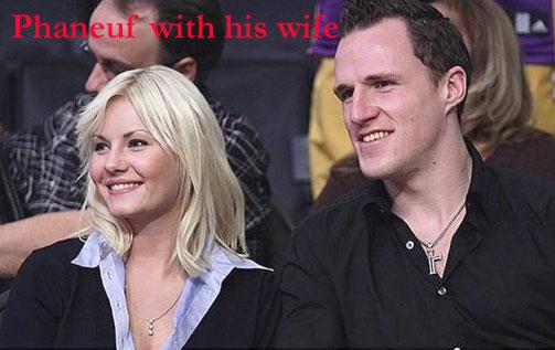 Dion Phaneuf wife Elisha