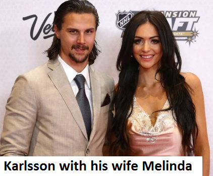 Erik Karlsson's wife Melinda