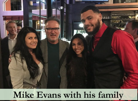 Evans with his family