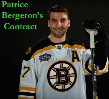 Patrice Bergeron salary
