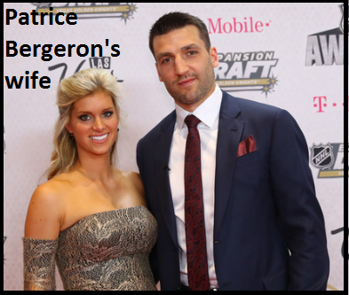 Patrice Bergeron with his wife