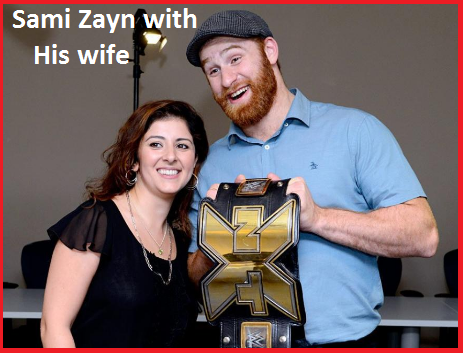 Sami Zayn with his wife