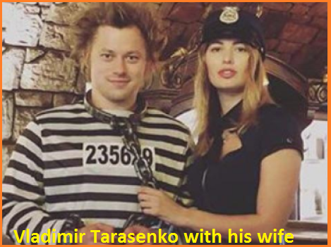 Vladimir Tarasenko with his wife