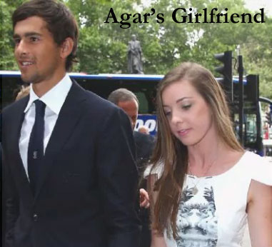 Agar's girlfriend Mady Hay
