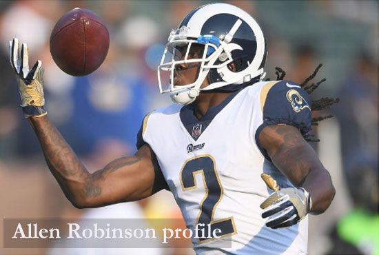 Allen Robinson NFL player, wife, contract, stats, salary and family