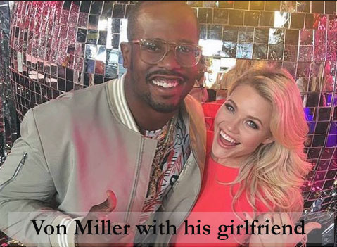 Miller with his girlfriend