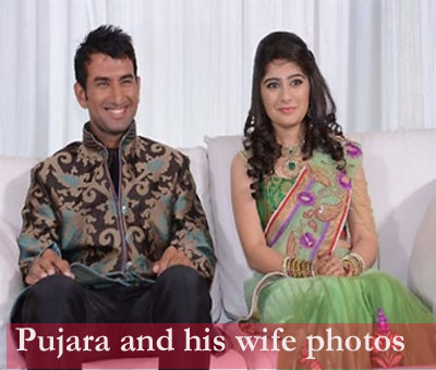 Pujara and his wife