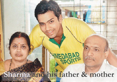Rohit Sharma and his family