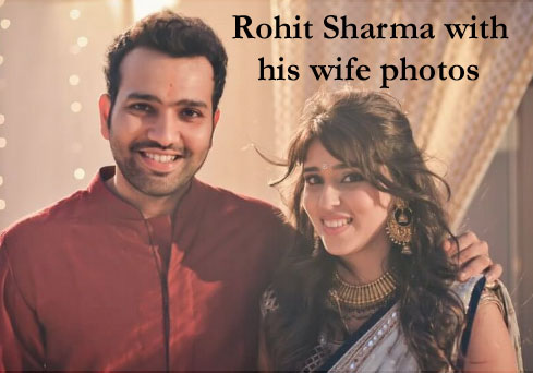 Rohit Sharma and his wife