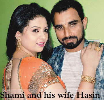 Shami with his wife Hasin