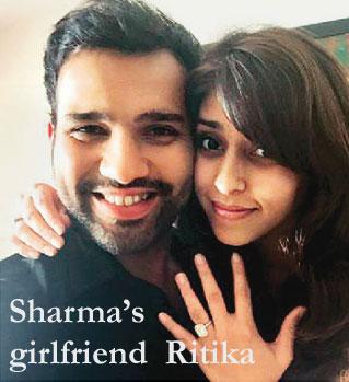 Rohit Sharma with his Girlfriend Ritika