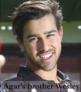 Agar's brother Wesley Agar