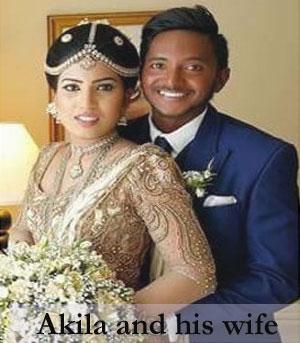 Akila Dananjaya wife
