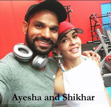 Ayesha Mukherjee and Shikhar Dhawan