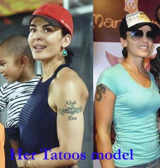 Ayesha's tatoos