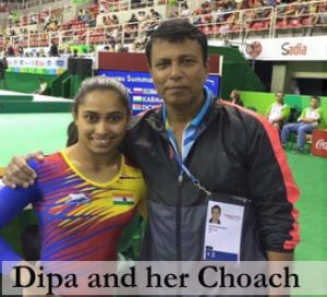 Karmakar with her coach